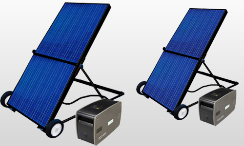 Solar power back up generators